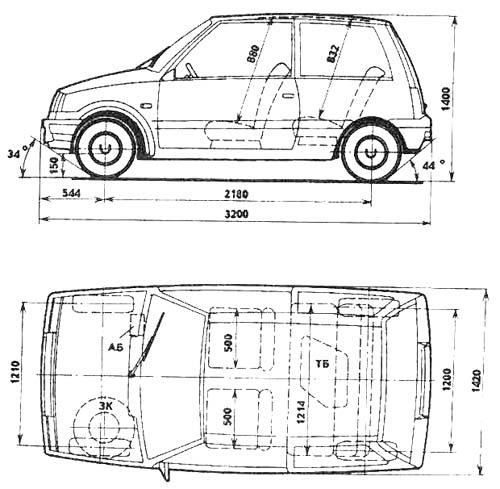 Масса агрегатов (в кг): Двигатель в сборе без сцепления и коробки передач - 66,5; коробка передач с дифференциалом...